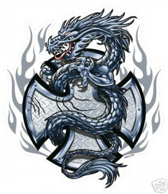 Cross Dragon Tattoo Pictures