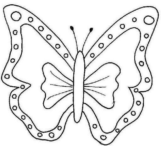 moldes de bonitas mariposas para pintar