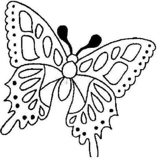 Dibujos o Imagenes Moldes de Hermosas Mariposas Para Pintar o ...