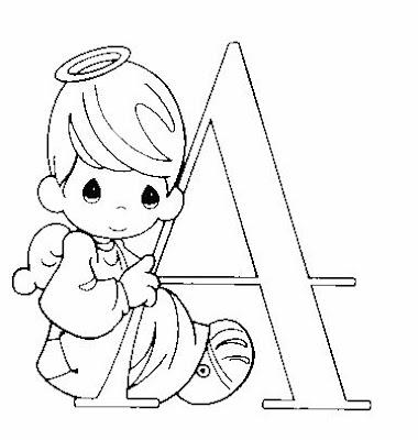 Abecedario infantil para pintar :