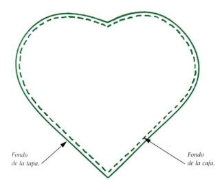 Como hacer una caja en forma de corazón :