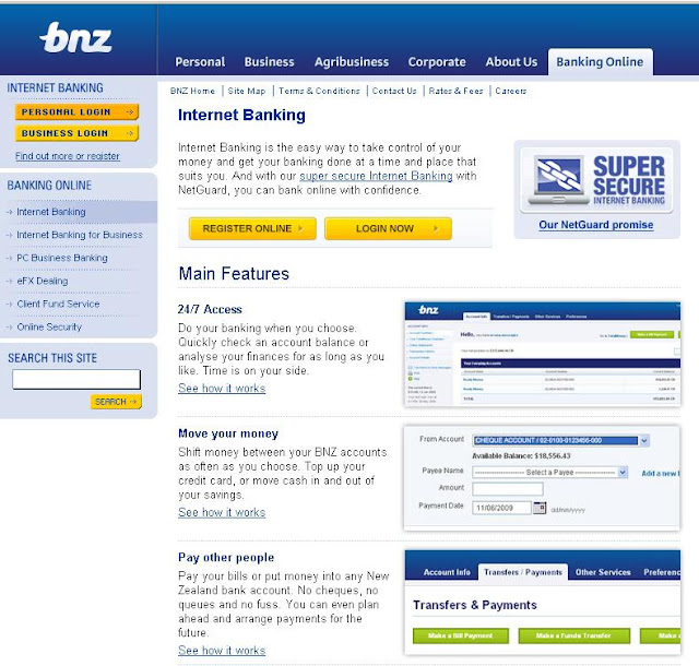 www.bnz.co.nz, Login, bnz internet banking