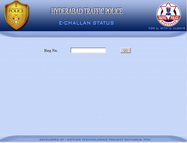 Check Traffic Police e-challan Status Online in Hyderabad