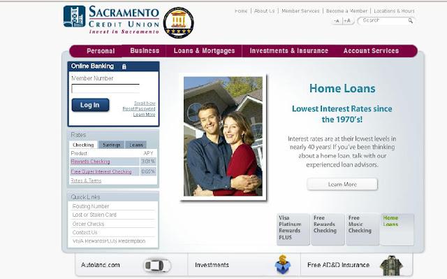 Sacramento Credit Union - online Banking - Www.sactocu.org