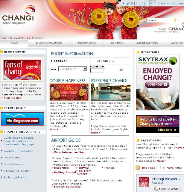 Changi Airport Flight Information - www.changiairport.com
