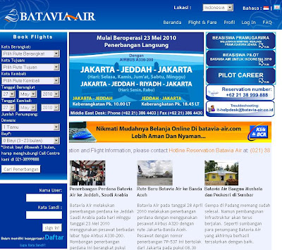 Batavia Air Online Booking : User Guide for Ticket Reservation