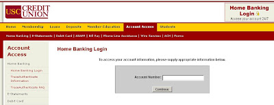 Home Banking Login at www.USCCreditUnion.org
