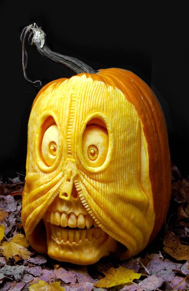 what the fuck have you done pumpkin carving extreme