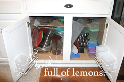 Day #3 Organizing Those Messy Tupperware Cabinets!