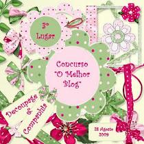 3º lugar no concurso de melhor blog
