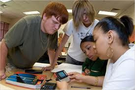 Students Using Cell Phone for Class Work by The Innovative Educator