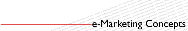 e-Marketing Concepts | Doing Business in an Online World