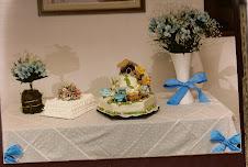 Mesa de Torta de Bautismo