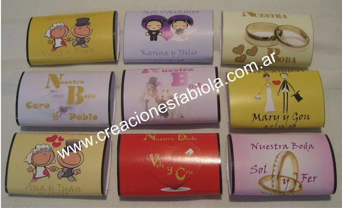 chocolate personalizado boda