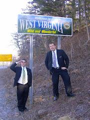 Hunter with Elder Lowry in West Virginia