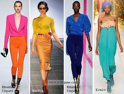 2010 yaz moda trend iki renkli kiyafetler 5