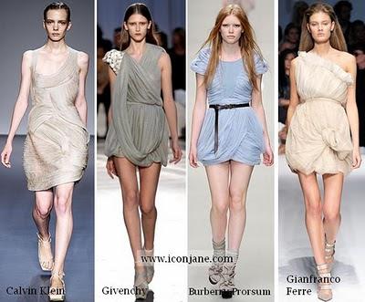 2010 yaz moda drape elbise 5