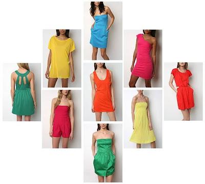 rengarenk renkli elbiseler 2