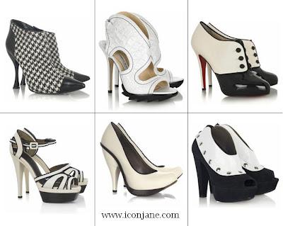 siyah beyaz aksesuar ayakkabi