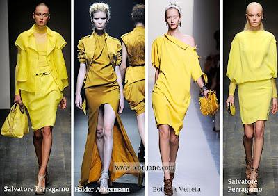 2010 yaz trend moda renk sari 5