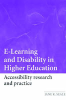 Front cover of E-Learning and Disability in Higher Education