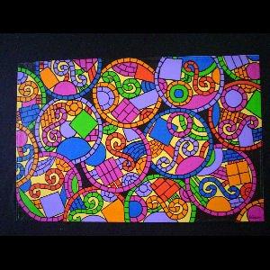 Mosiac Circles - Sold