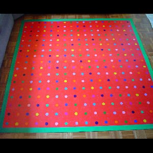 Polka Dots on Red - Sold
