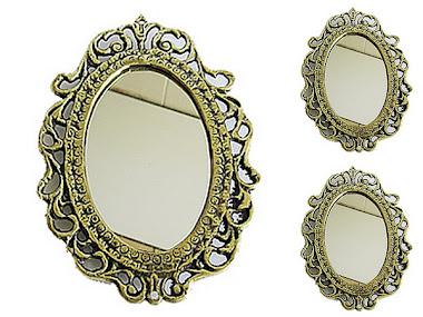 kit com 3 espelho em bronze