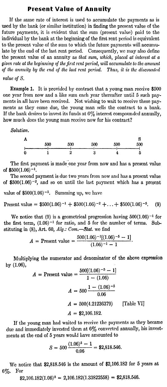Annuity homework help