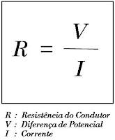 Intensidade da corrente formula