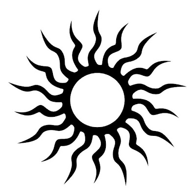 Sun tribal tattoo design. Labels: Black Ink Tattoos, Sexy Tattoo,