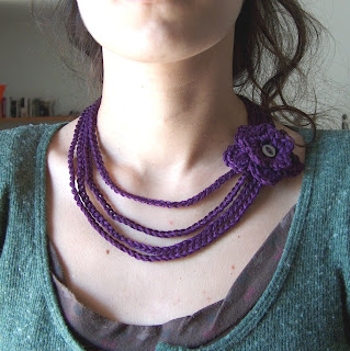creativeyarn: Free Pattern's Outline for a Crochet Necklace