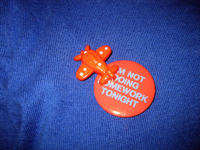 Old Navy I'm Not Doing Homework Tonight pin, airplane pin