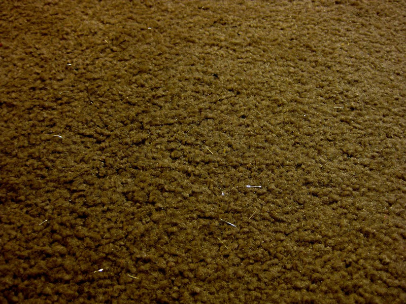 our carpet, post-craft, littered with silver hairy tinsel bits