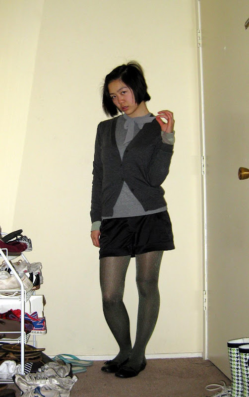 a gray-green outfit, in which I reconsider my life