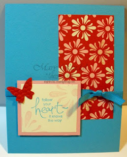 stampin up, Whimsical Words, sending love, card