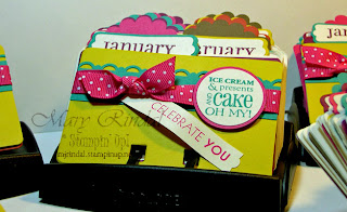 stampin up big shot, rolodex, birthday calendar