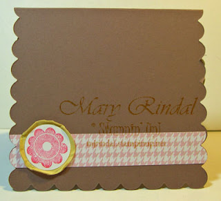 stampin up, big shot, scallop square