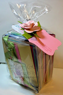 stampin up, flower punch, paper rose