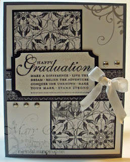 stampin up, graduation card, Happy Grad