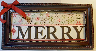 stampin up christmas merry frame