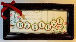 stampin up believe christmas frame