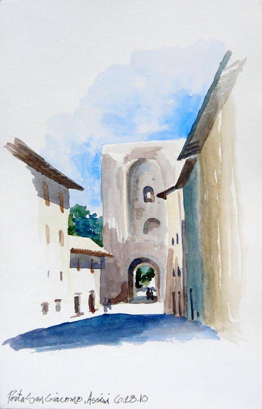 Sketchblog more from the moleskine - Porta san giacomo assisi ...