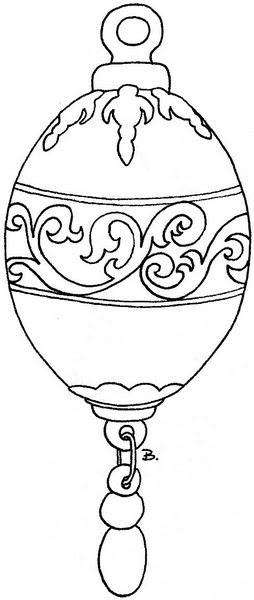 coloring pages christmas baubles - photo#9