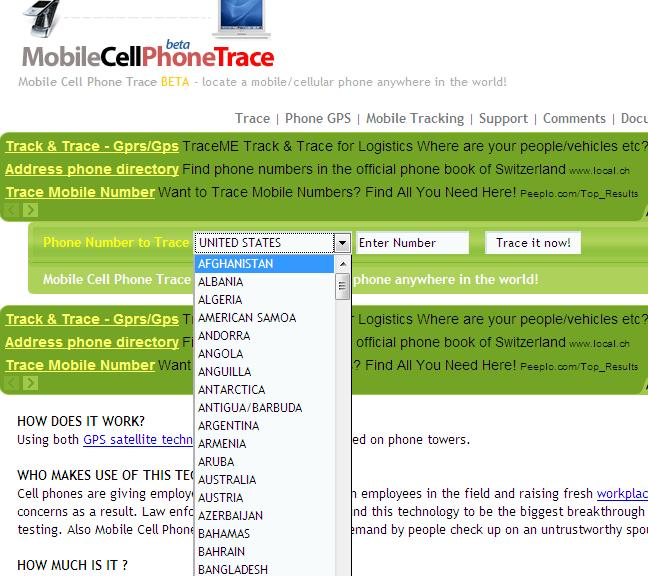 Phone number trace free