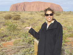 That's me, Robin in Ayers Rock, Australia