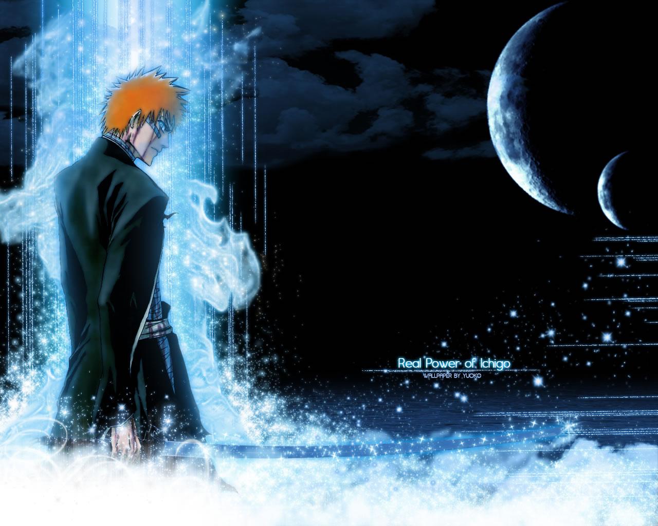 Blue Kurosaki Ichigo Bankai Bleach Anime Wallpaper
