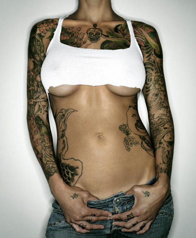 own new tattoo or your next original tattoo design. Sexy Girl Tattoo