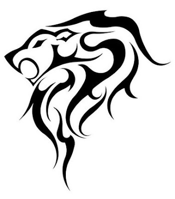 Lion Tattoos - Tribal Design