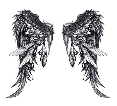Angel Wings Tattoos Typically, these structures are larger, and covers all